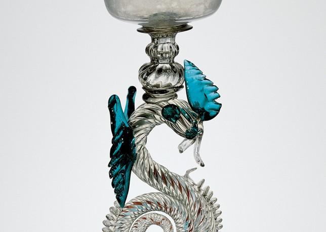 Dragon-Stem Goblet, Venice, Italy, 1630-1670. 51.3.118.