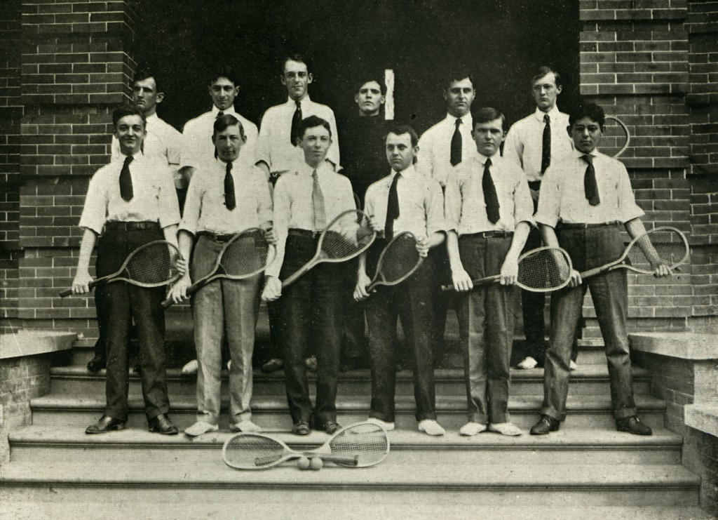 Jesse at Tulane University where he and Bessie met. (1907. Tulane Dormitory Tennis Club, University Archives, Special Collections, Howard-Tilton Memorial Library, Tulane University, New Orleans, LA.