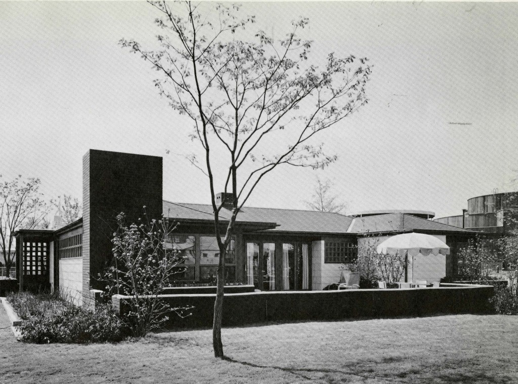 Black and white photograph of the exterior of the Bride's Home