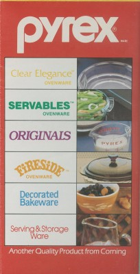 """Pyrex® ware"" brochure. Published by Corning Glass Works, 1984. Gift of digital image courtesy of World Kitchen, LLC. CMGL 142572."