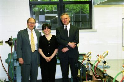 Bill Gudenrath, Amy Schwartz, and David Whitehouse on the opening day of The Studio.