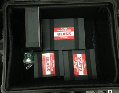 The Hazlett boxes protect the gear, and even include a warning. What more could one want?