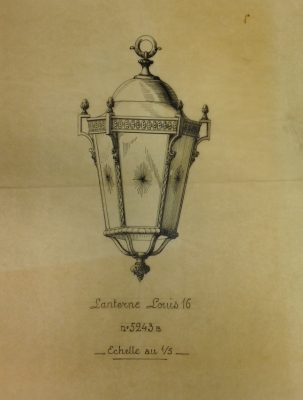 Design drawing for lantern