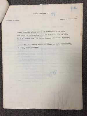 Water-damaged loan paperwork from Tufts University