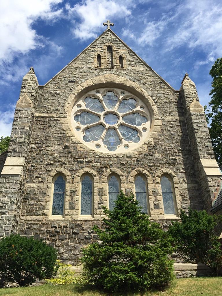 Exterior of Calvary Church, Summit, NJ.