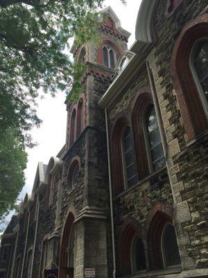 Exterior of Park Church, Elmira, NY.