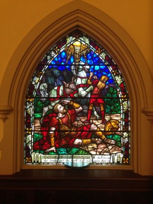 Whitefriars stained glass window in Park Church, Elmira, NY.
