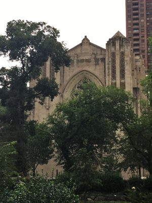 Exterior of the Church of the Heavenly Rest, New York City.