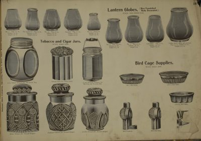 Bird cage supplies from a McKee & Brothers catalog, late 19th century-early 20th century.