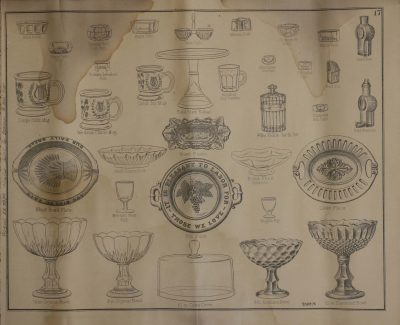 1882 McKee & Brothers catalog illustrating bird cups, bird fountains, and seed boxes.