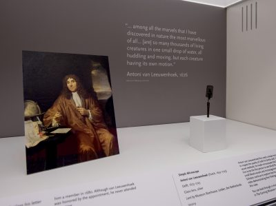 Van Leeuwenhoek and his microscope