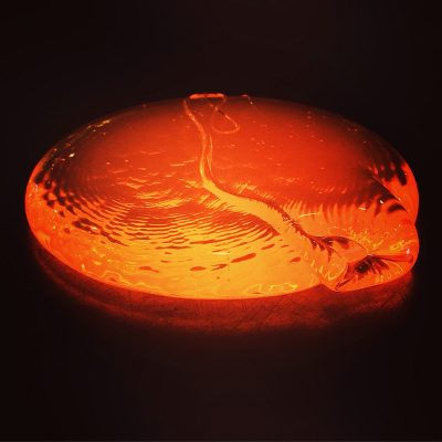 A blob of molten glass.