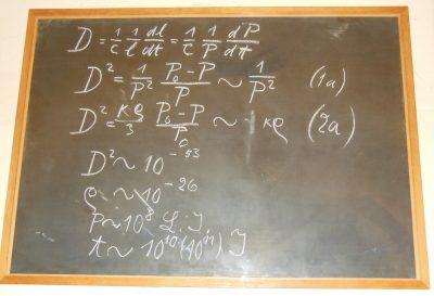 Albert Einstein's chalkboard
