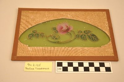 Lampshade sample, Smith Brothers Decorating Co., New Bedford, Mass., 1890-1910. Gift of The New Bedford Glass Society. 92.4.12.