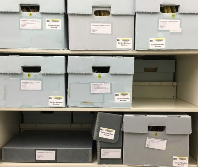 Boxes from the Frederick Carder Papers, CMGL 100113.