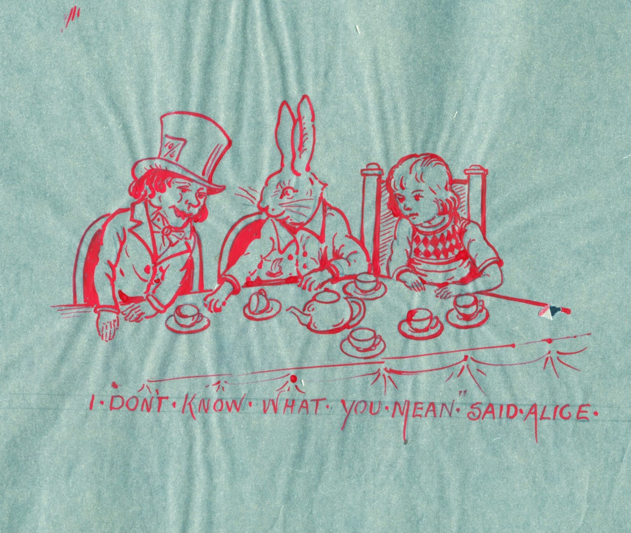 Drawing of the White Rabbit from Alice in Wonderland