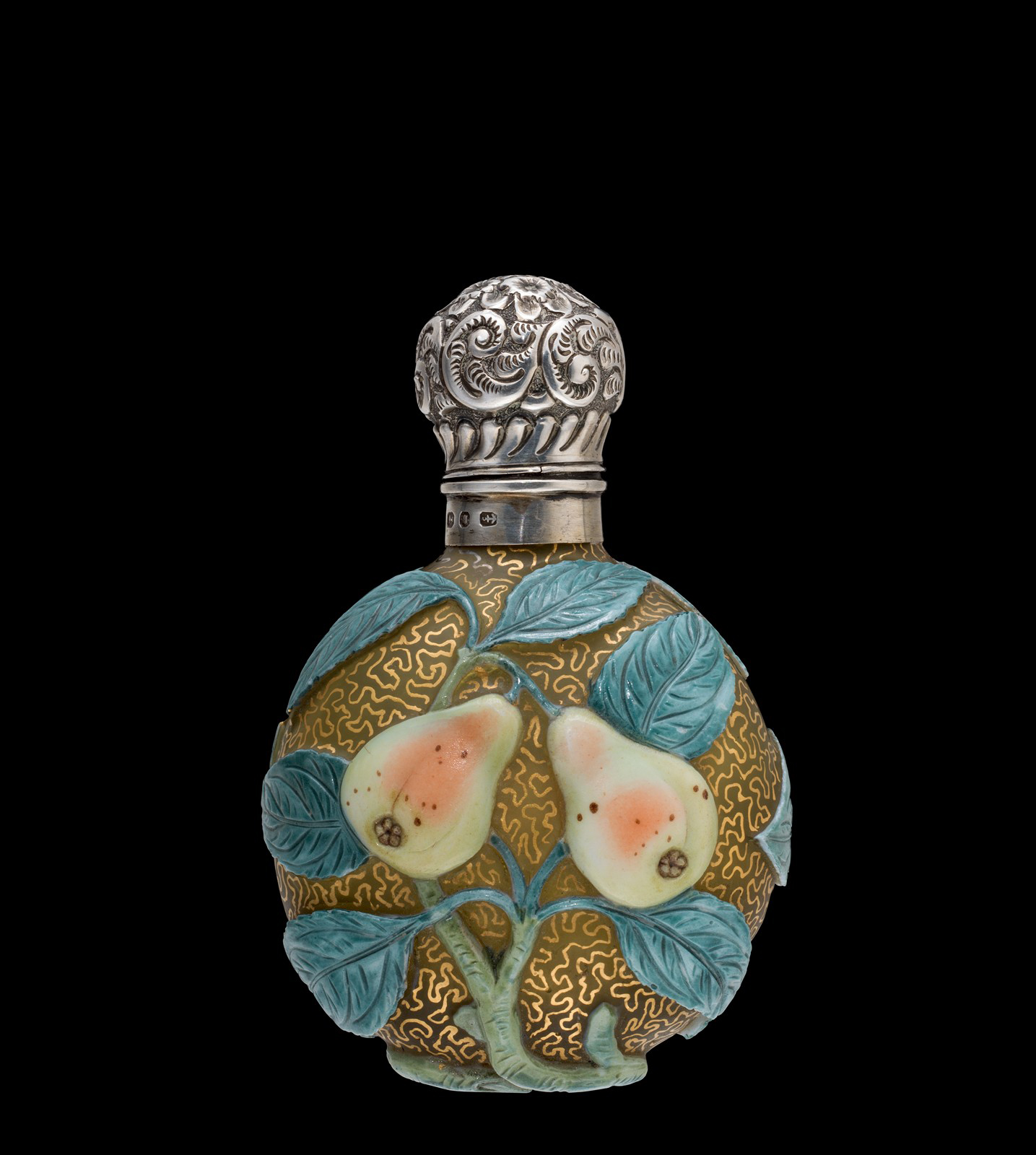 Cameo Scent Bottle with Fruit