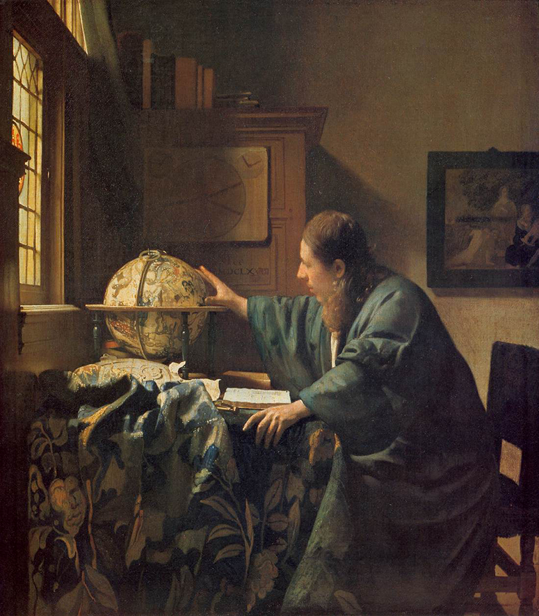 The Astronomer, Johannes Vermeer (1632-1675), 1668, Louvre, Paris