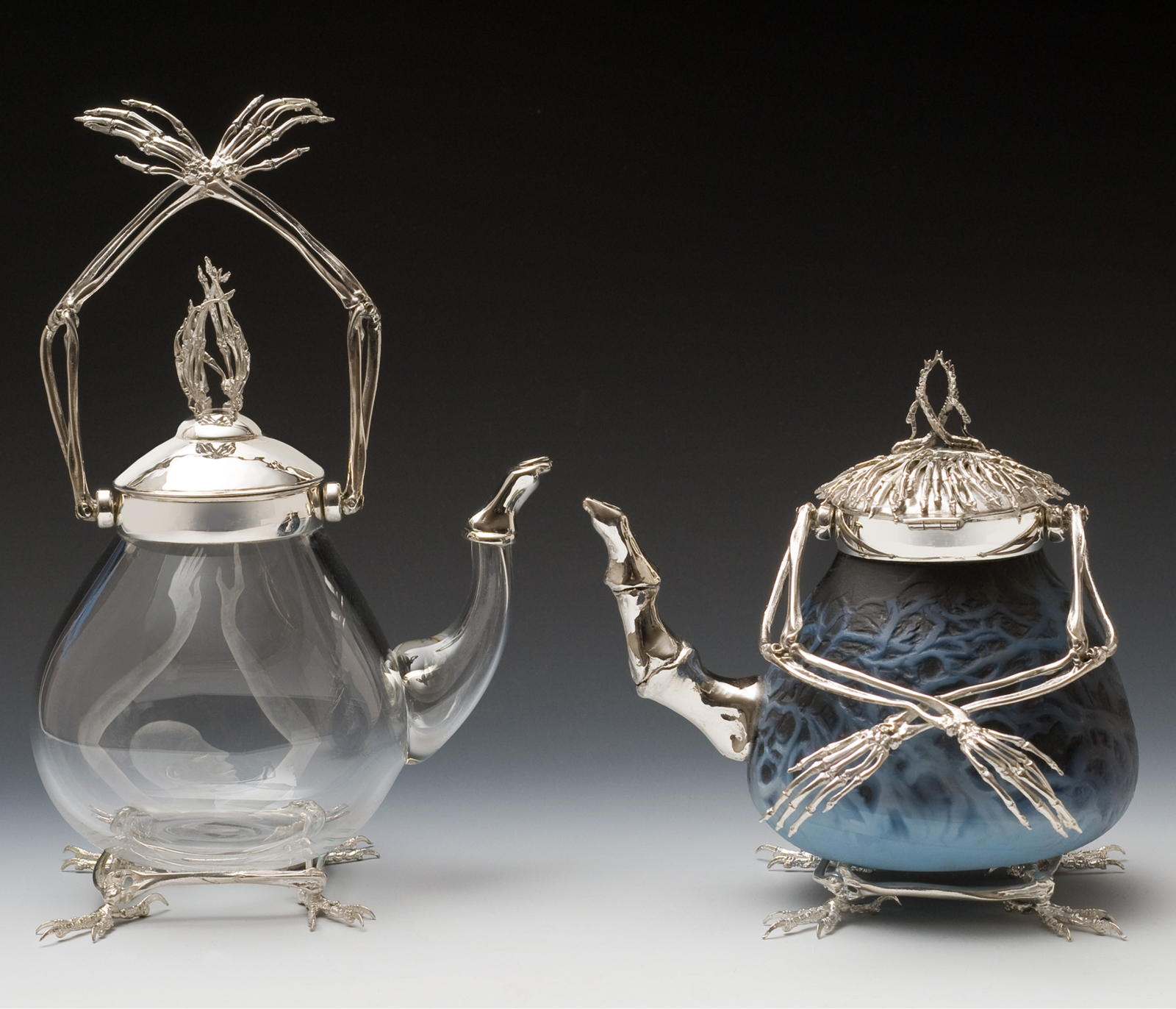 Baba Yaga's Teapots for Light and Dark Spells by Wendy Yothers.