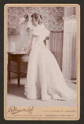 The famous glass dress royal robe of Princess Eulalia, Libbey Glass Company, [1893]. Gift of Rob Smith. CMGL 134150.