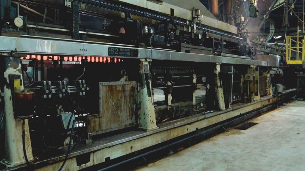 Glass Ribbon Machine, Keller Technology Corporation; United States, New York, Buffalo, 1998. Metal; Overall H: about 243.8 cm, W: about 243.8 cm, D: about 2,286 cm. 2016.8.411. Gift of Ledvance, LLC.