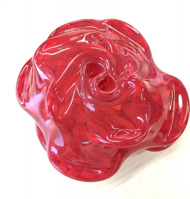 Tess' finished rose paperweight.