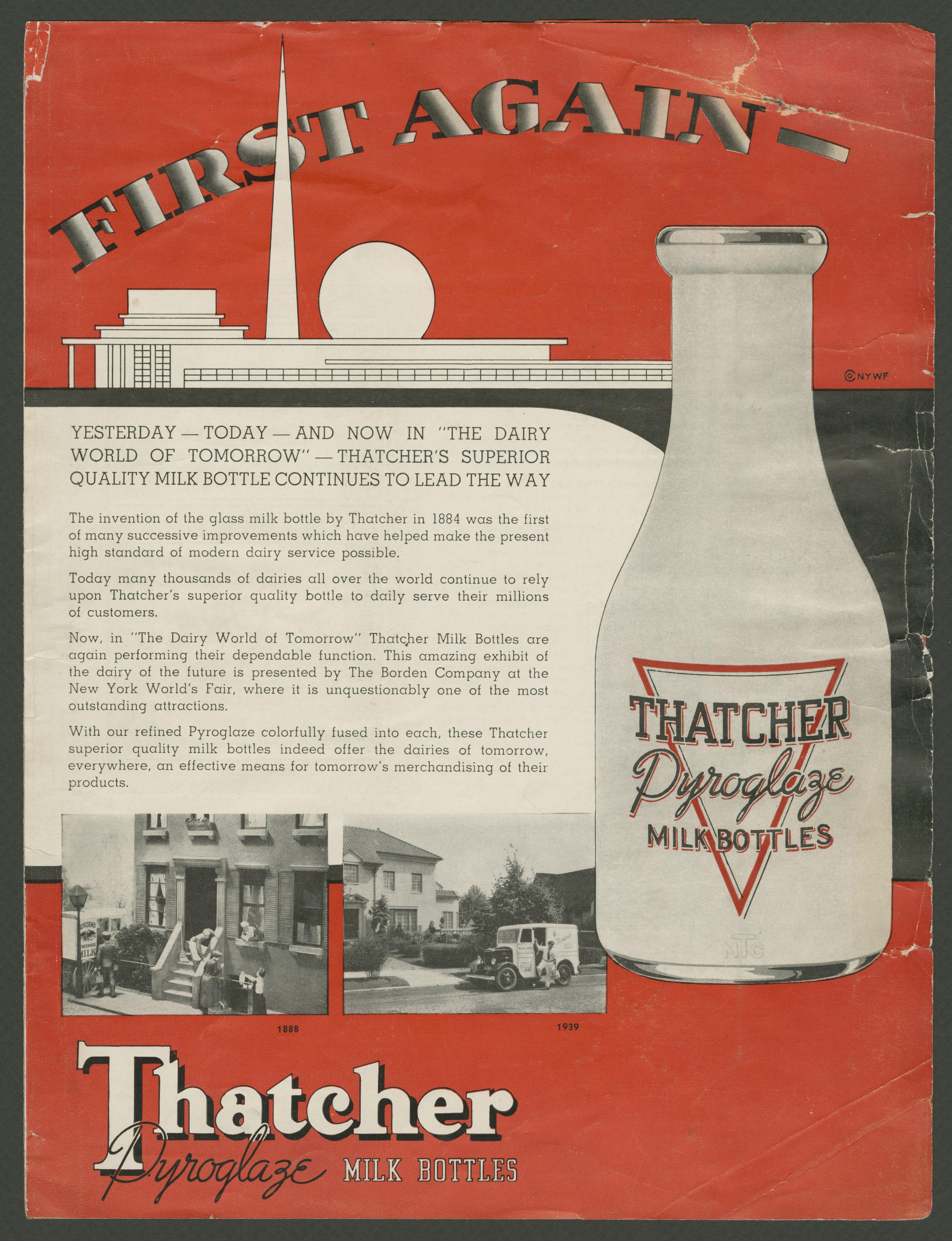 Advertistment for glass bottle