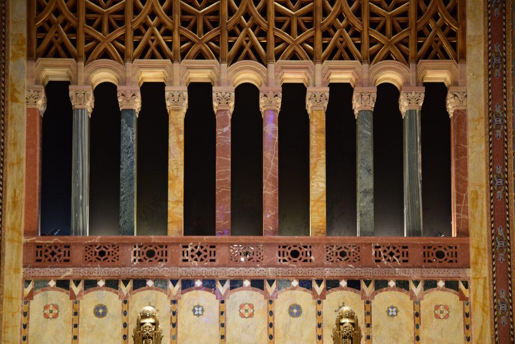 Marble columns in Temple Emanu-El's ark
