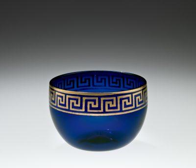 Deep blue gilded bowl, about 1790-1799, Isaac Jacobs, Bristol, England, 58.2.1.