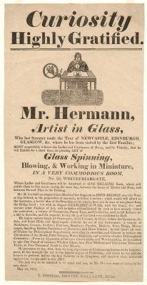 Advertisement for glassworker