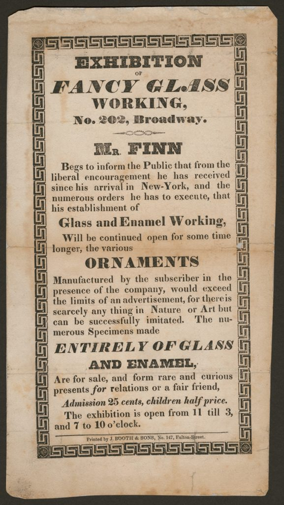Advertisement for New York city exhibition