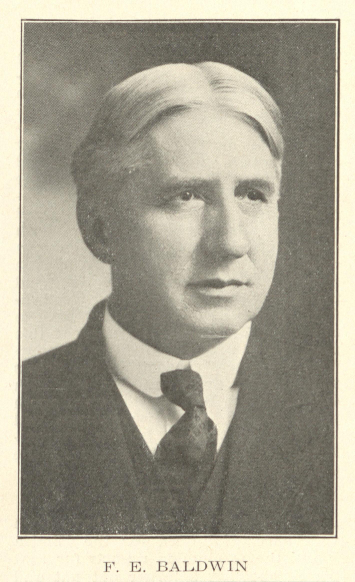 Photograph of Francis E. Baldwin