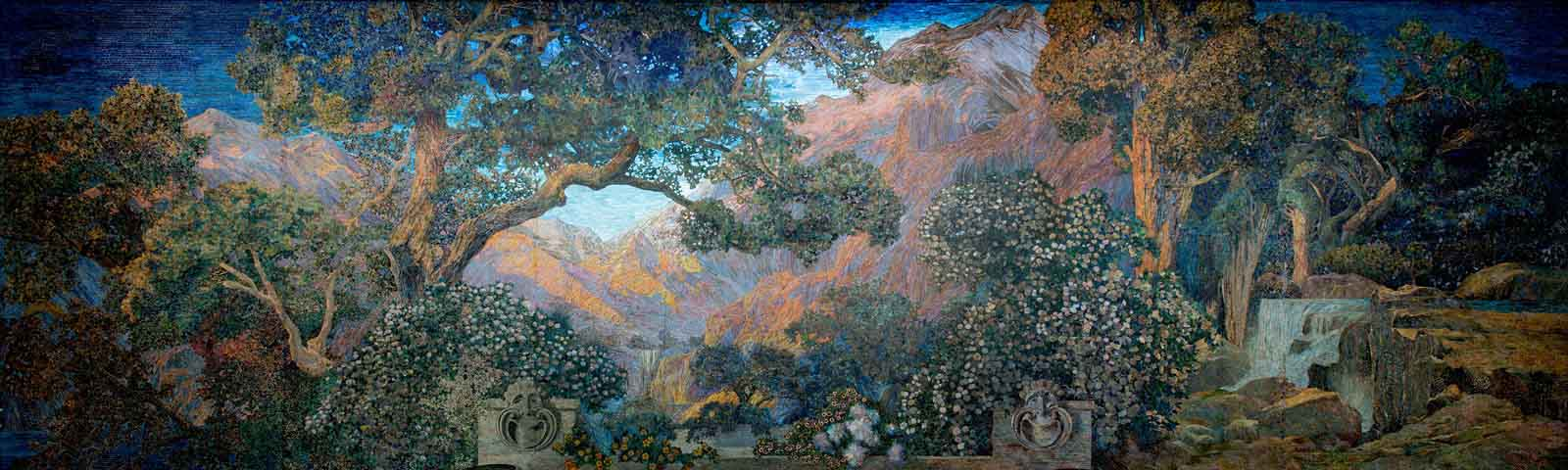 Mural, The Dream Garden, 1916. Tiffany Studios.
