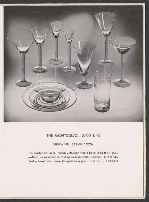 Detail of Libbey Glass Company, Toledo, OH. For the Bride: Libbey Modern American Glassware. Toledo, OH: Libbey Glass, division of Owens-Illinois Glass Co., 1945 CMGL 61513