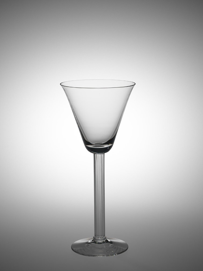 """Goblet in """"Monticello"""" Pattern, 1940 Libbey Glass Company, United States, OH, Toledo Blown and molded 2014.4.8"""