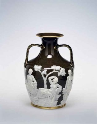 Copy of the Portland Vase, Minton & Co., Marc Louis Solon, Stoke-on-Trent, England, 1874