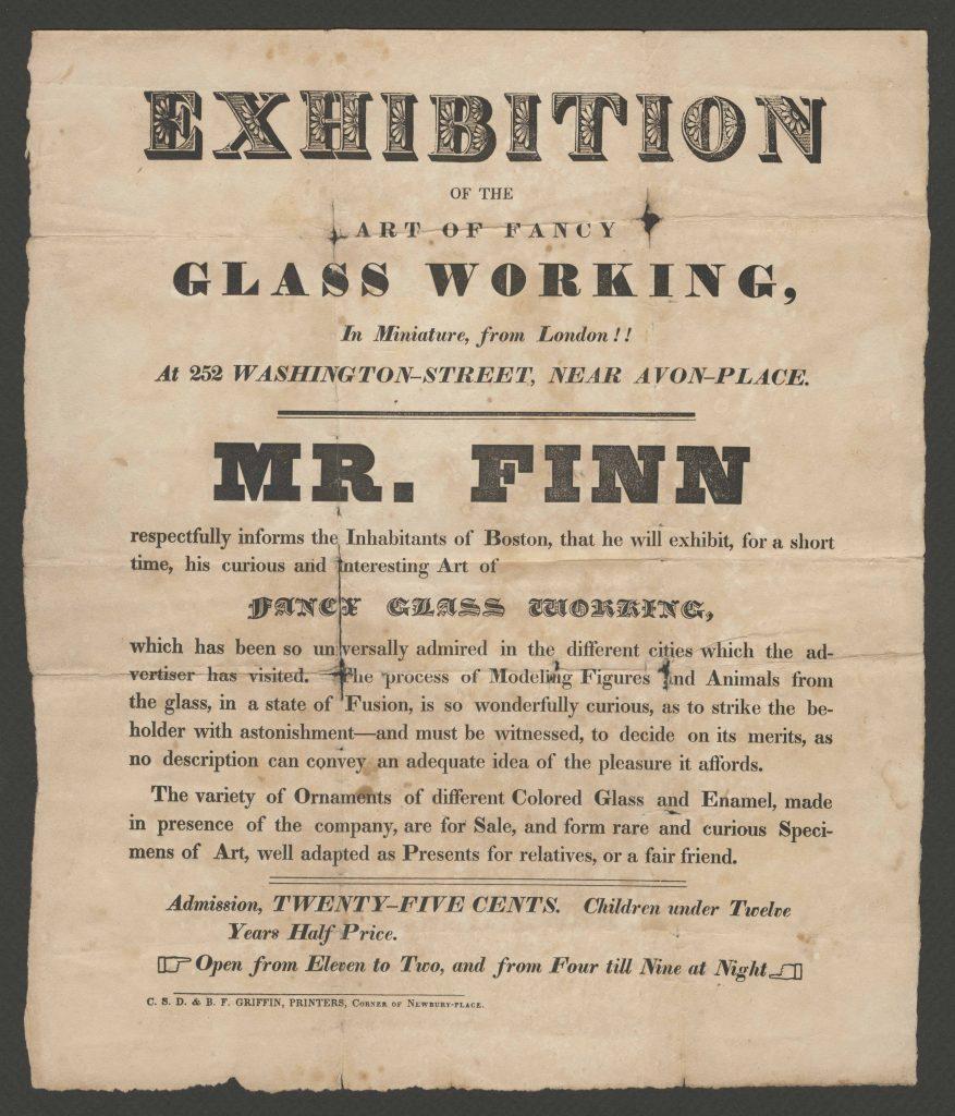 Advertisement for Boston exhibition