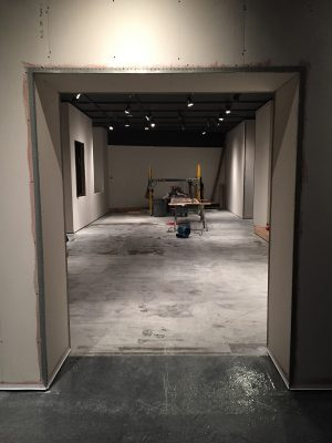 Drywall is in, floors have been repaired and cleaned and the walls are ready for mud and paint.