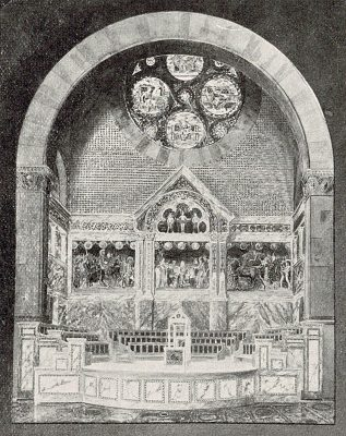 Drawing of Alexander Hall decoration