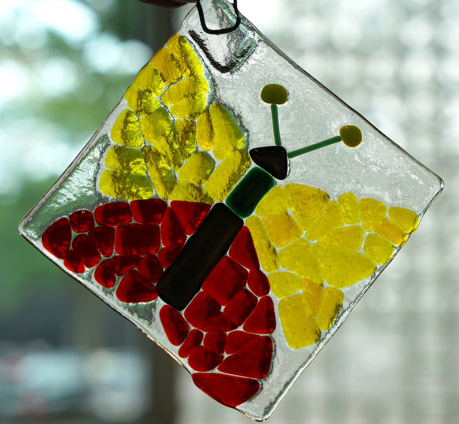 Finished Make Your Own Glass Tiffany-inspired project