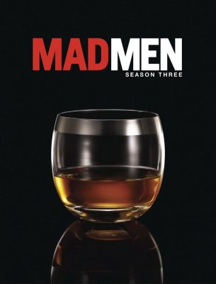 Poster for Season 3 of Mad Men featuring Dorothy Thorpe's glass design.