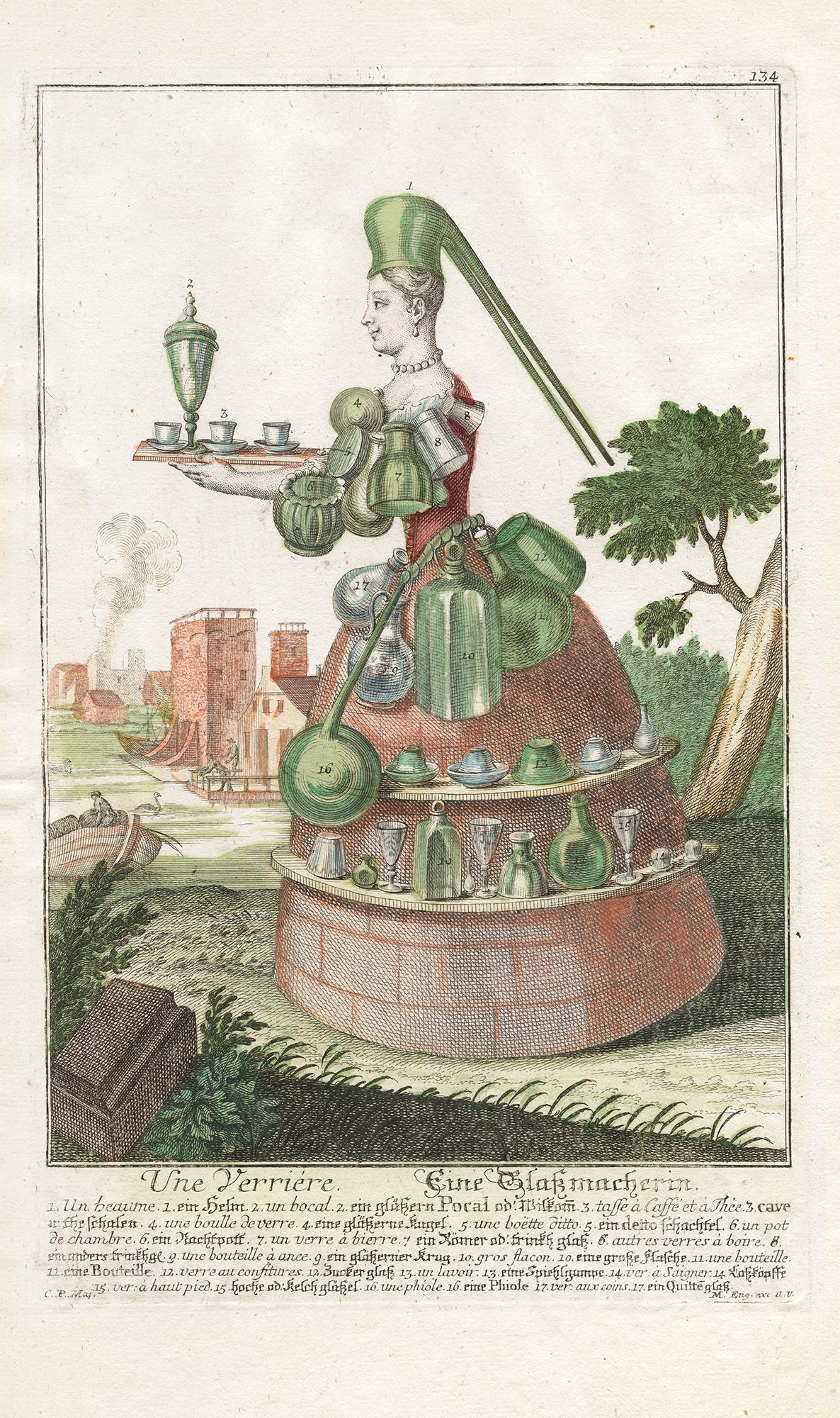 Une verriere/Eine Glassmacherin