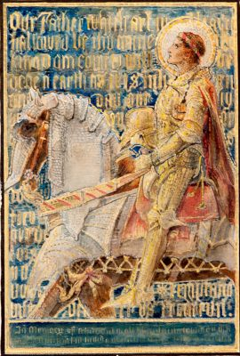 Sketch for mosaic panel, The Prayer of the Christian Soldier, about 1896.