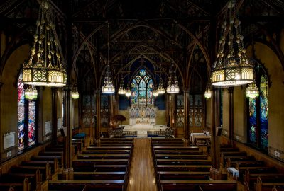 Interior of St. Paul's Episcopal Church, Troy, New York, 1891–1893.