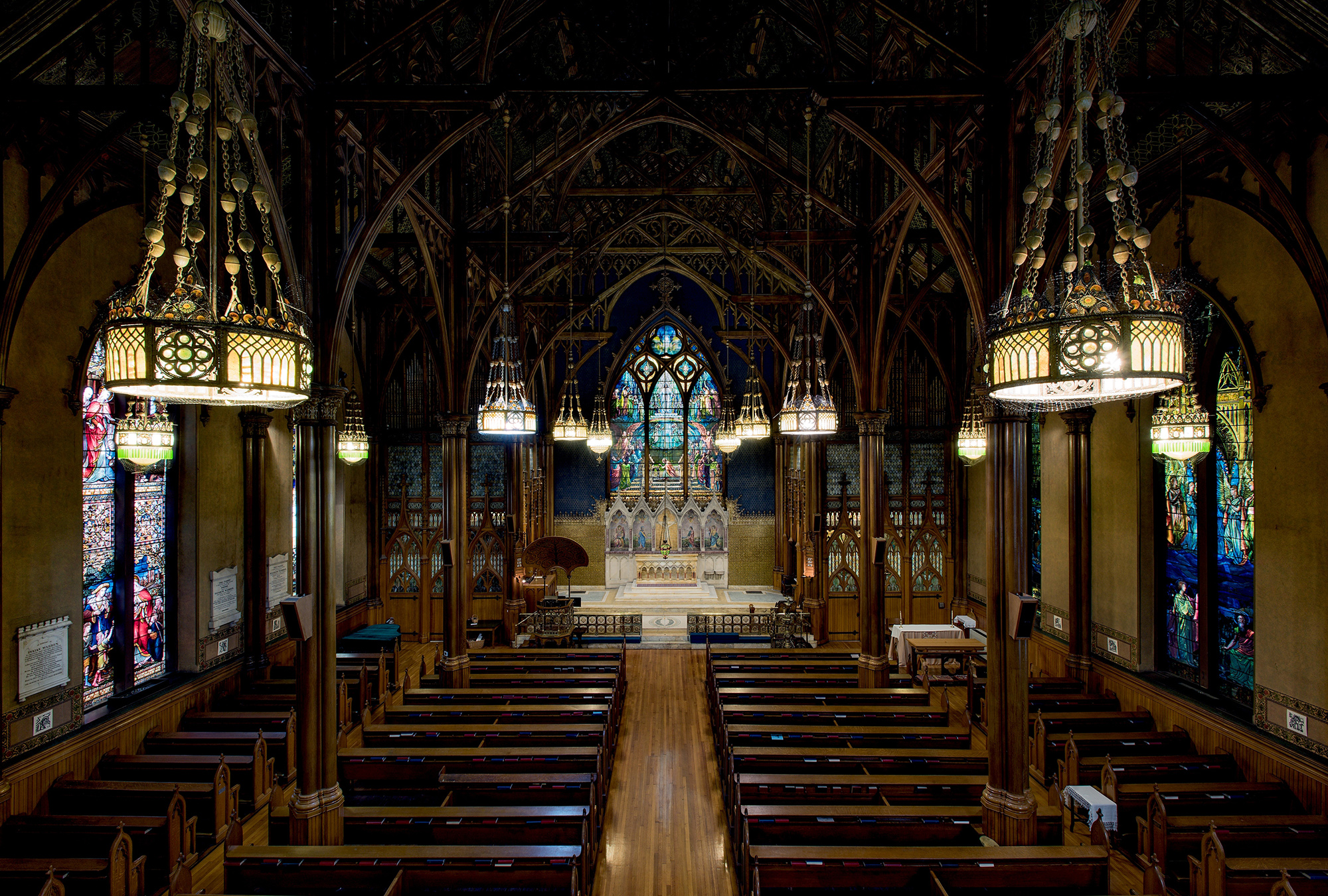 Interior of St. Paul's Episcopal Church, Troy, New York, 1891–1893.