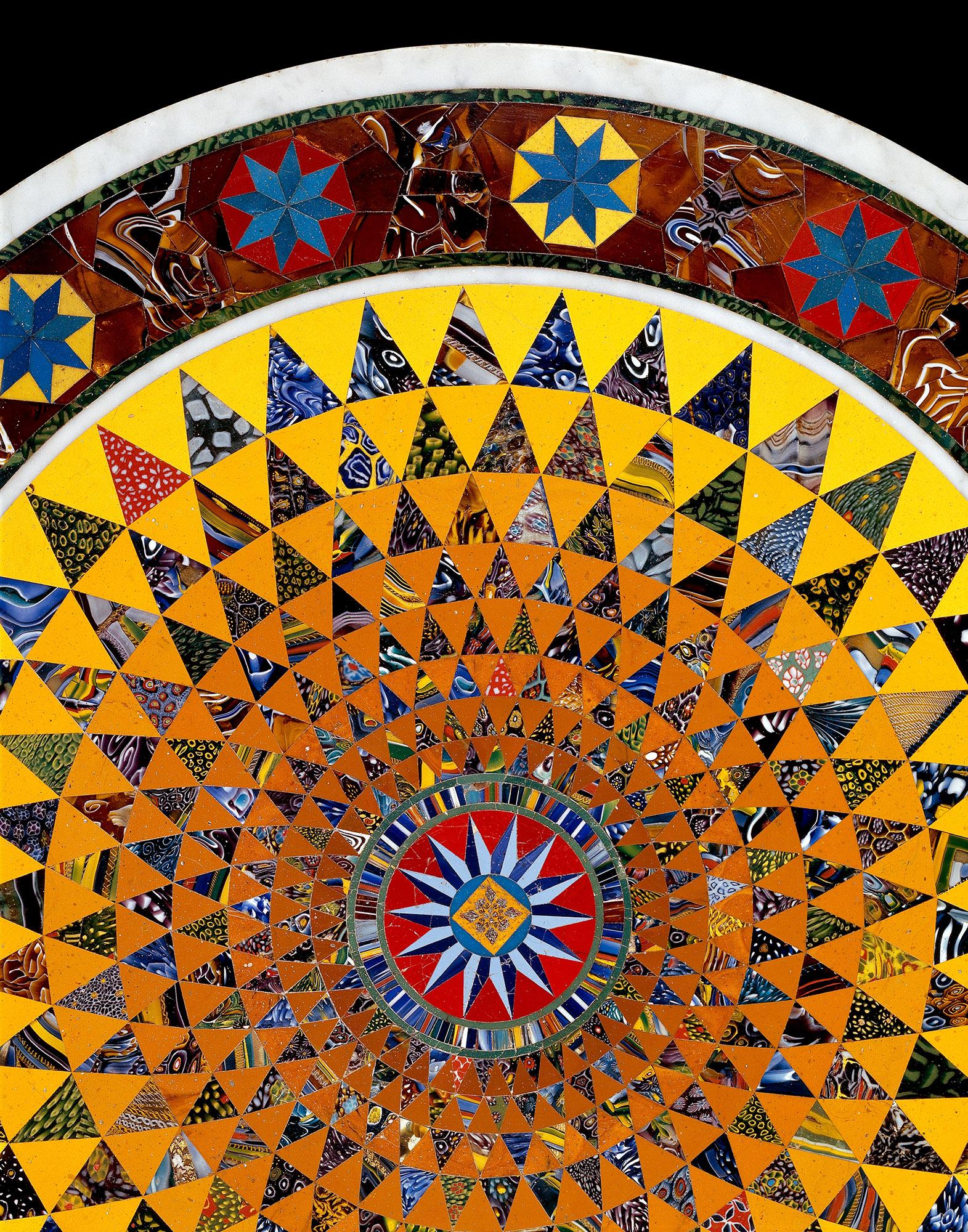 Mosaic Glass Tabletop (detail)