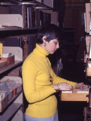 Gail in 1977 at the Acme Warehouse