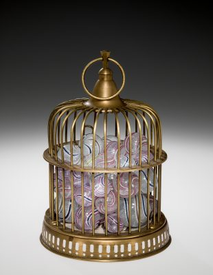 Richard Posner Marbles in Birdcage Reliquary