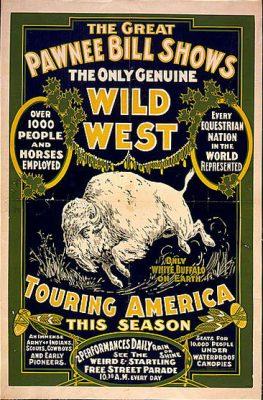 Poster advertising Pawnee Bill's Wild West show (1903).