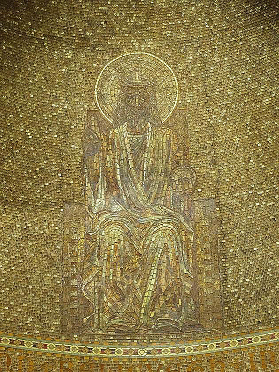 Detail, chancel mosaic depicting Christ enthroned, 1907